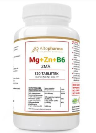 Витамины Altopharma магний + цинк+ B6 ZMA МЕГА ДОЗА - 120 табл