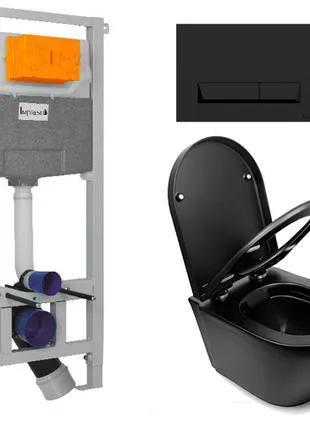 Унитаз подвесной NEWARC Modern (3823B)+ИНСТАЛЛЯЦИЯ Imprese i8120