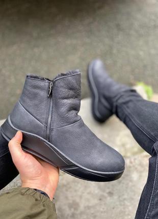 Lux обувь! мутоновые натуральные кожаные зимние мужские ботинк...