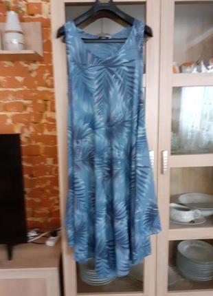 Натуральное асимметричное платье большого размера