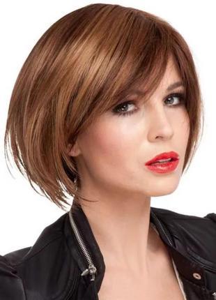 Коричневый каре — парик из 100% натуральных волос 29 см.