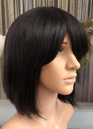 Парик натуральный черный каре из 100% натуральных волос — пари...