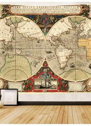 Гобелен настенный Старинная карта.