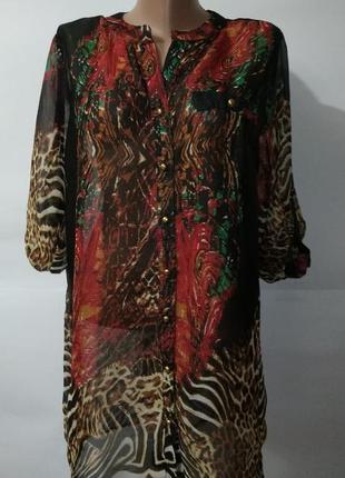 Рубашка блуза новая удлиненная красивая uk 16/44/xl