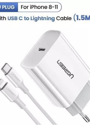 Быстрая зарядка для iPhone 8-11 PD3.0 18W QC4.0 QC3.0 USB Type C