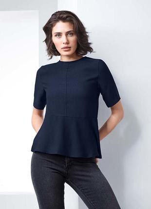 Шелковистая блуза, футболка, рубашка от tchibo(германия), р: 4...
