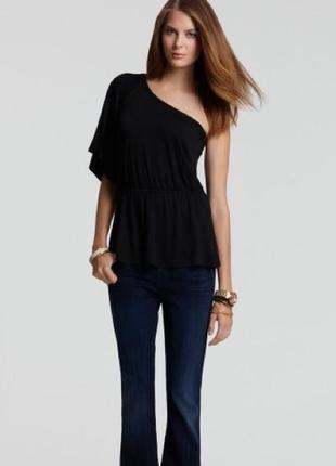 Новая блуза туника на одно плечо штапель 50-52 размера