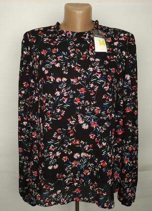 Блуза новая легкая в принт цветочный uk 14/42/l