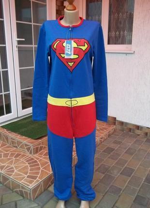46/48 р next  superman фирменный комбинезон пижама кигуруми (б...