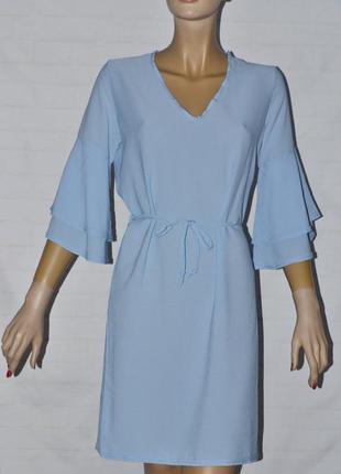 Свободное нежное платье с воланами на рукавах от boohoo