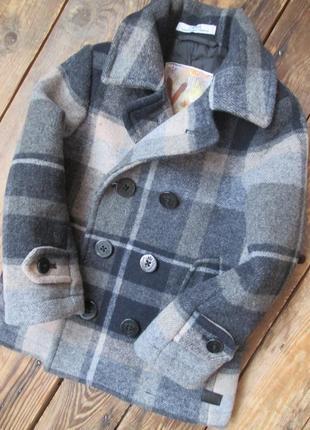 Стильное шерстяное пальто на мальчика 2-3 года фирма ovs grupp...