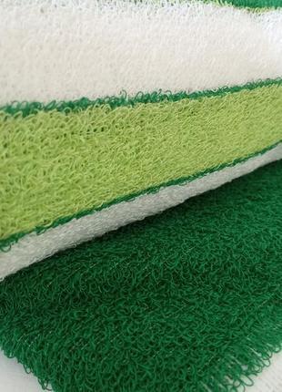 Полотенце банное махровое 140*70 зеленое с белым