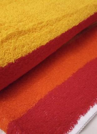 Махровое полотенце 100*50 красное-оранжевое-желтое