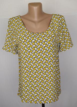 Блуза стильная в принт тв zara uk 10/38/s