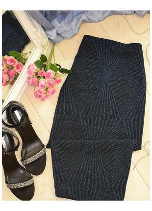 Нарядная блестящая юбка zara