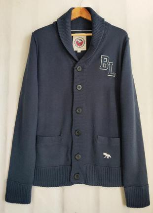 Темно-синий шерстяной кардиган шведского бренда bondelid