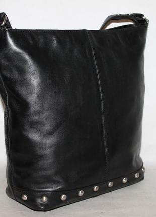 Вместительная кожаная сумка rowallan 100% натуральная кожа