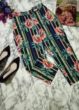 Удобные брюки в цветочном принте
