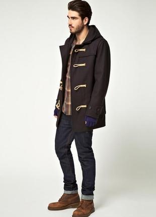 Шерстяное пальто дафлкот от pull&bear размер l-xl