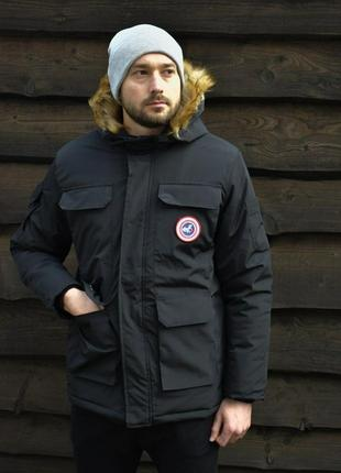 Стильная мужская парка зимняя курточка пуховик