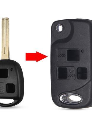 Корпус выкидного ключа для Lexus (Лексус) 3- кнопки, лезвие TO...
