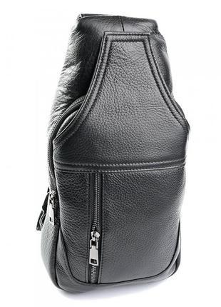 Мужская кожаная сумка через плечо из натуральной кожи чоловіча...