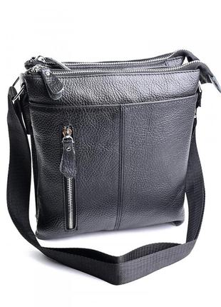 Мужская кожаная сумка из натуральной кожи чоловіча шкіряна