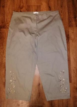 🌺🎀🌺красивые женские укороченные брюки, штаны, бриджи, капри 20...