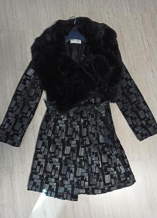 Пальто max mara с мехом
