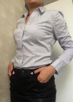 Тонкая клетчатая/в клетку приталенная рубашка