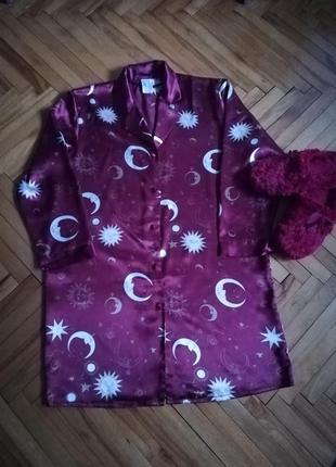 Атласный халат для дома принт версаче