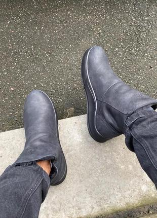 Lux обувь! кожаные зимние натуральные высокие ботинки сапоги н...