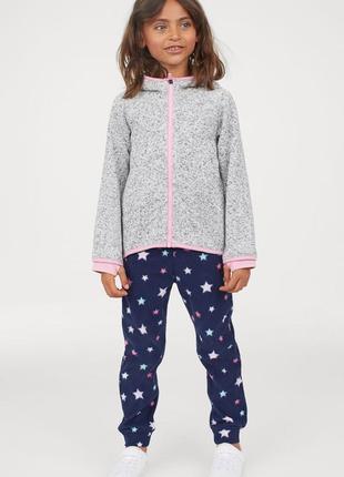 Флисовые теплые штаны для девочки, штаны на флисе h&m, р.3-4г,...