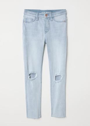 Стильные джинсы на девочку 10-11 лет с дырками h&m