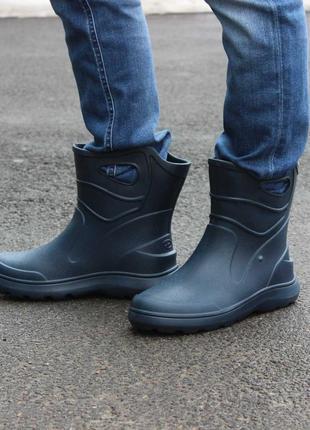Распродажа!!! мужские темно-синие легкие резиновые сапоги 45-46