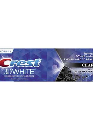 Отбеливающая зубная паста с углем crest 3d white charcoal toot...