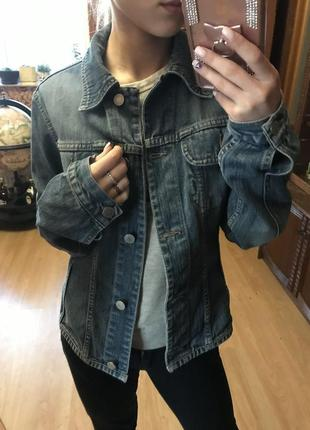 Стильный брендовый джинсовый жакет