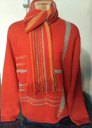Комплект: свитер + шарф 80% шерсть