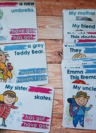 Набір пластикових карток для вчителя англійської мови