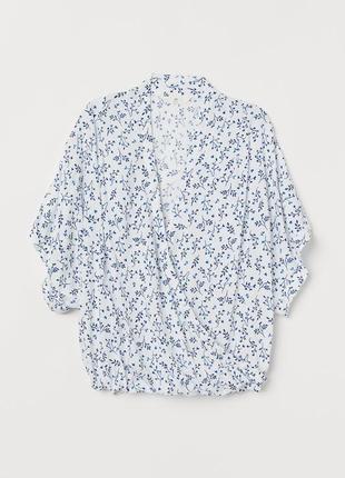 Обворожительная блузка в принт h&m logg