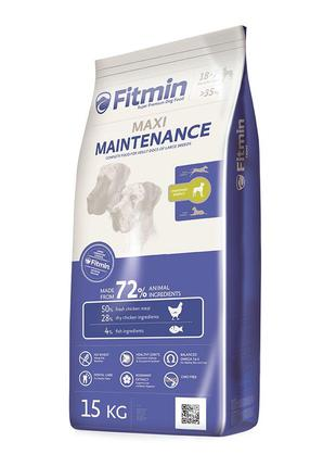 Сухой корм холистик для собак Fitmin dog maxi maintenance, для...