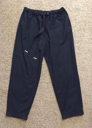 Стильные зауженные брюки в полоску большого размера чинос chin...