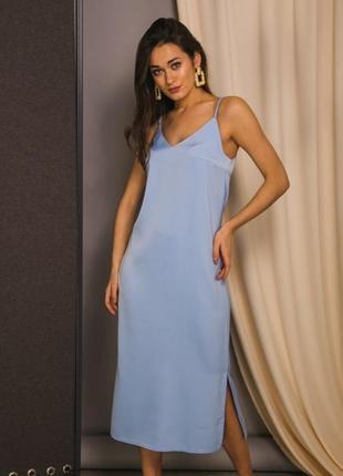 Платье плотное в бельевом стиле