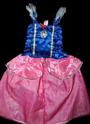 Платье disney белоснежка синий корсет розовая юбка 5-6 лет