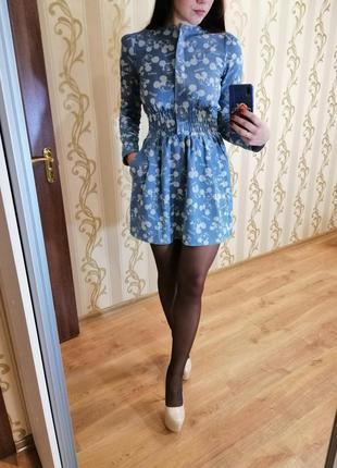 Джинсовое платье микки маус