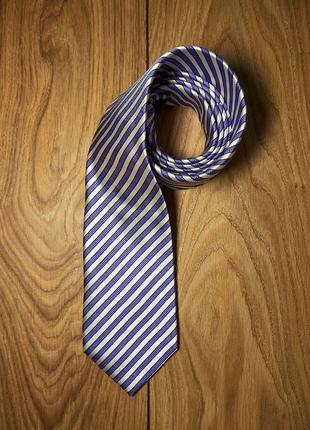 Стильный брендовый шелковый галстук haines & bonner.