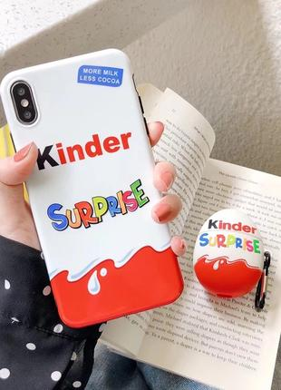 Чехол для iPhone и AirPods Kinder Surprise