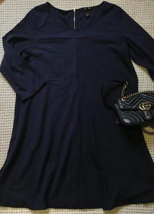 Тёмно синие платье h&m
