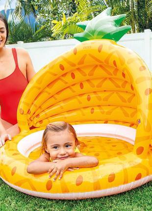 Детский бассейн с навесом Ананас, бассейны детские надувные с ...