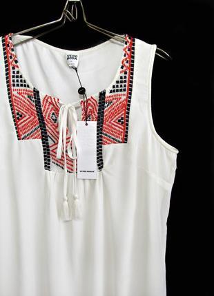 Воздушное платье с вышивкой в этно-стиле р.16